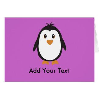 Pingouin mignon carte de vœux