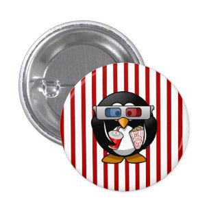 Pingouin mignon de bande dessinée aux films avec badge