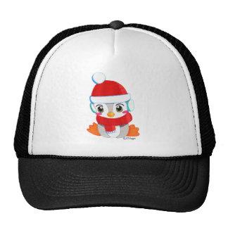 Pingouin mignon de bébé casquette