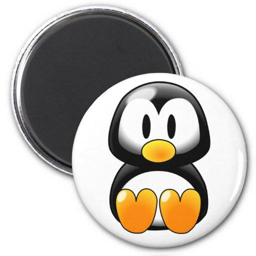 Pingouin mignon de bébé - Customizeable Magnets Pour Réfrigérateur