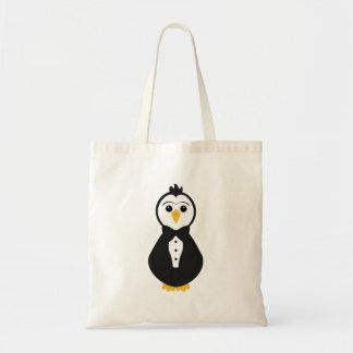Pingouin mignon de marié sac en toile budget