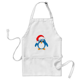 Pingouin mignon de Père Noël de Noël de bande dess Tablier