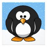 Pingouin mignon invitations personnalisées