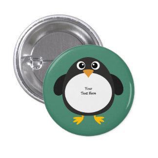 Pingouin potelé (personnalisable) badge rond 2,50 cm