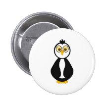 Pingouin ringard mignon badge avec épingle