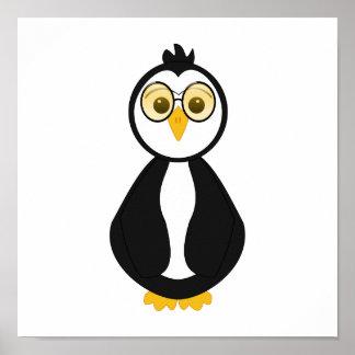 Pingouin ringard mignon poster