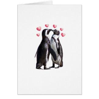 Pingouin Romance Carte De Vœux