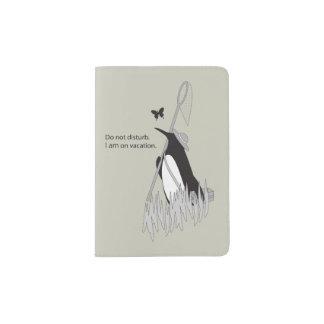 Pingouin sur chic drôle de conception originale de protège-passeport