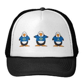 Pingouins avec des chemises casquettes
