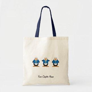 Pingouins avec des chemises sacs en toile