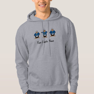 Pingouins avec des chemises veste à capuche