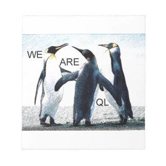 pingouins blocs notes