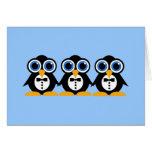 pingouins cartes de vœux
