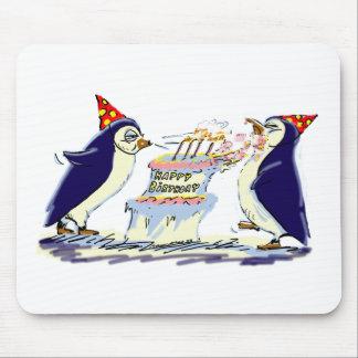 Pingouins d anniversaire tapis de souris