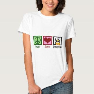 Pingouins d'amour de paix t-shirt