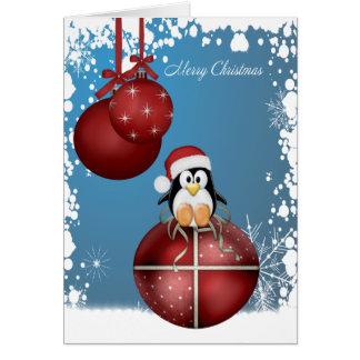 Pingouins de Noël Carte De Vœux