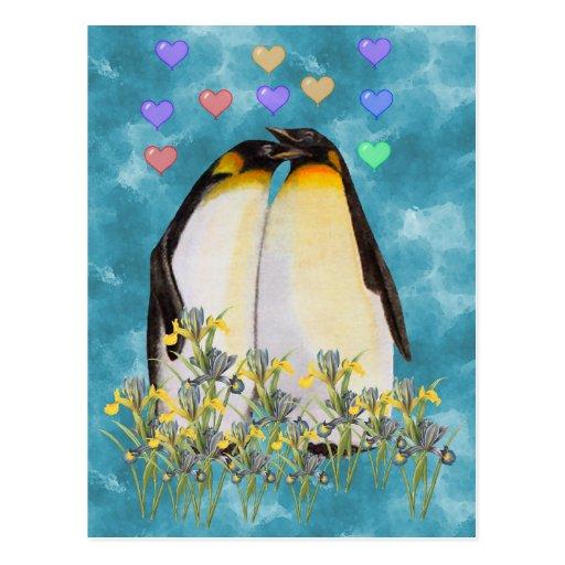 Pingouins de Saint-Valentin Cartes Postales