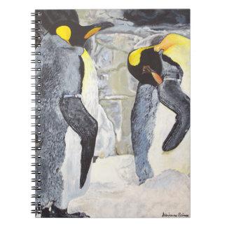 Pingouins d'empereur sur la glace carnet