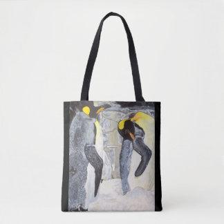 Pingouins d'empereur sur la glace sac