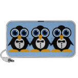 pingouins haut-parleurs portables