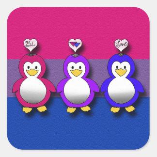 Pingouins mignons de fierté de Bi d amour de Bi Autocollants
