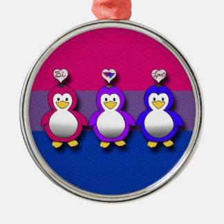 Pingouins mignons de fierté de Bi d'amour de Bi Décorations De Noël