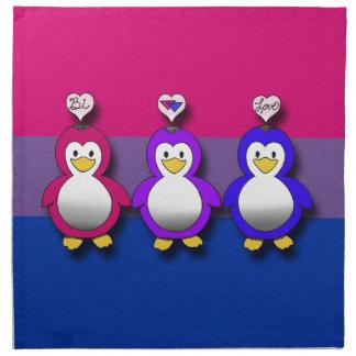 Pingouins mignons de fierté de Bi d'amour de Bi Serviette En Tissu