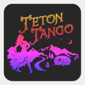 Pink&blk d'autocollant de tango de Teton Sticker Carré