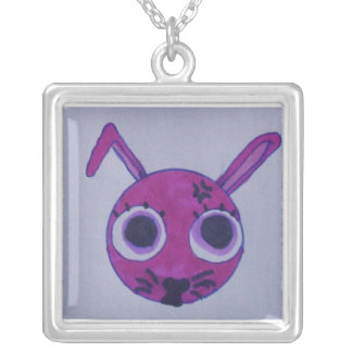 pink.bunny.CUTE. Collier