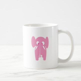 Pink elephant mug blanc