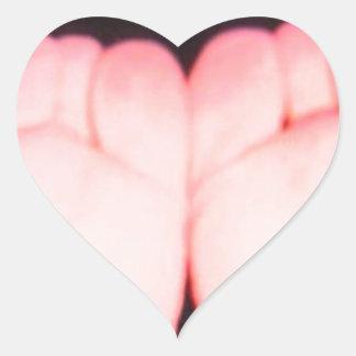 PINK FEET HEART STICKERS