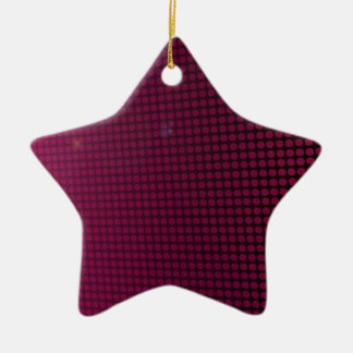 pink halo ornement étoile en céramique