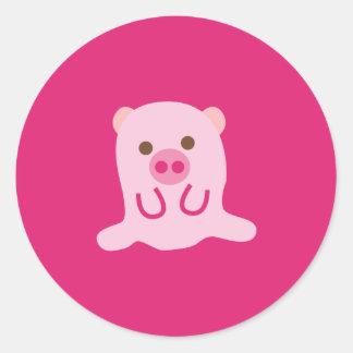 PinkPig4 Sticker Rond