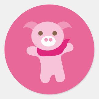 PinkPig5 Sticker Rond