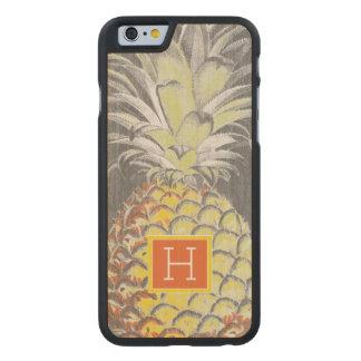 Pinneapple jaune tropical sur le gris coque en érable iPhone 6 case