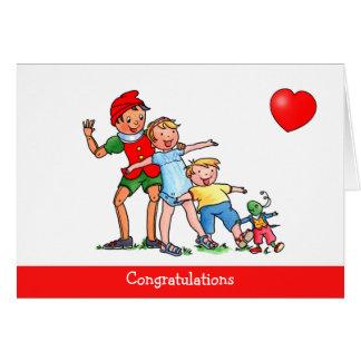 Pinocchio et amour d amis - carte d anniversaire