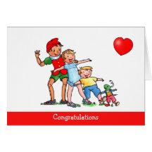 Pinocchio et amour d'amis - carte d'anniversaire