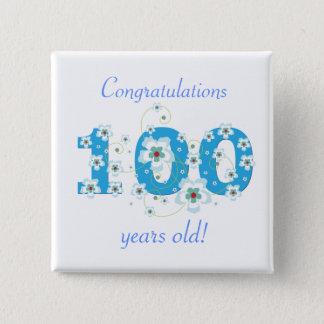 Pin's 100 années d'anniversaire de bouton de