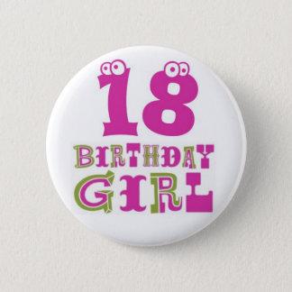 Pin's 18ème Insigne de bouton de fille d'anniversaire