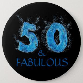 Pin's 50 et anniversaire de bain de natation fabuleuse