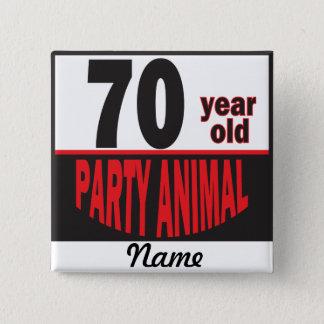 Pin's 70 anniversaire du fêtard   d'ans soixante-dixième