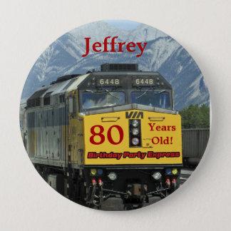Pin's 80 années, Pin de bouton d'anniversaire de train