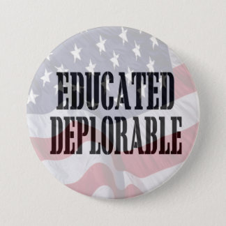 """Pin's """"A instruit"""" le bouton déplorable"""