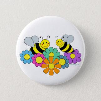 Pin's Abeilles et fleurs