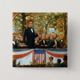 Pin's Abraham Lincoln et Stephen A. Douglas