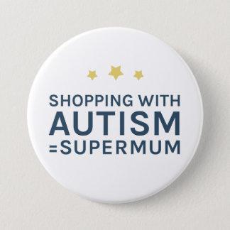 Pin's Achat avec l'insigne rond de Supermum d'autisme
