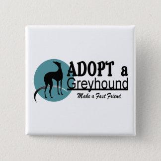 Pin's Adoptez un logo de lévrier