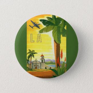 Pin's Affiche vintage de voyage, Los Angeles, la