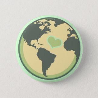 Pin's Aimez le jour de la terre de planète