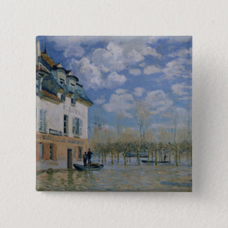 Pin's Alfred Sisley   le bateau dans l'inondation,